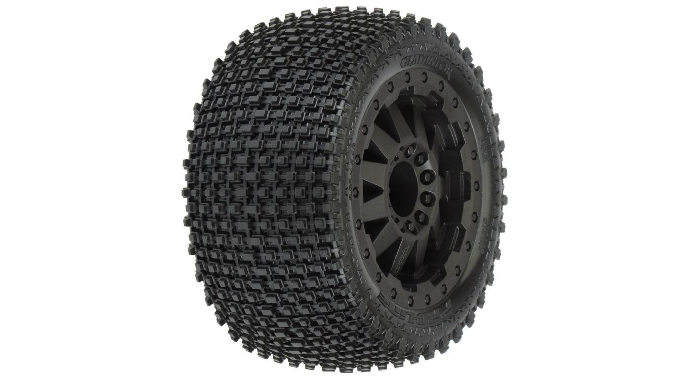 Image for R Gladiator 2.8, All Terrain Mnt F11 Wheel, Black: EST from HorizonHobby