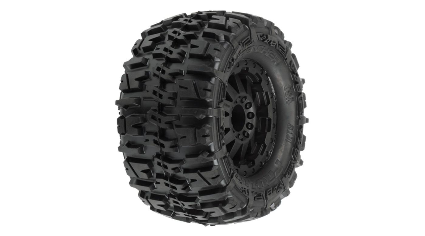 Image for Rear Trencher 2.8 TRA Style Bead, Mounted F-11 Black Wheel: EST from HorizonHobby