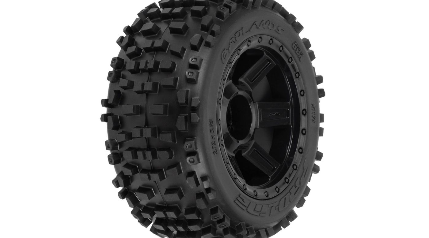 Image for Badlands 3.8 TRA Mnt Desperado 1/2Off 17mmWhl,Blk from HorizonHobby