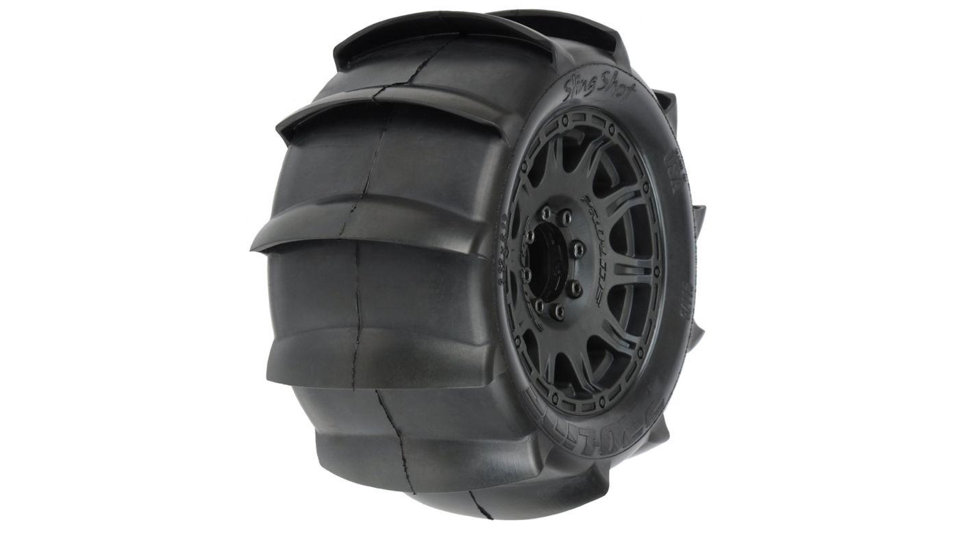 Image for Sling Shot 3.8 Sand Tires, Raid Wheel (2) from HorizonHobby