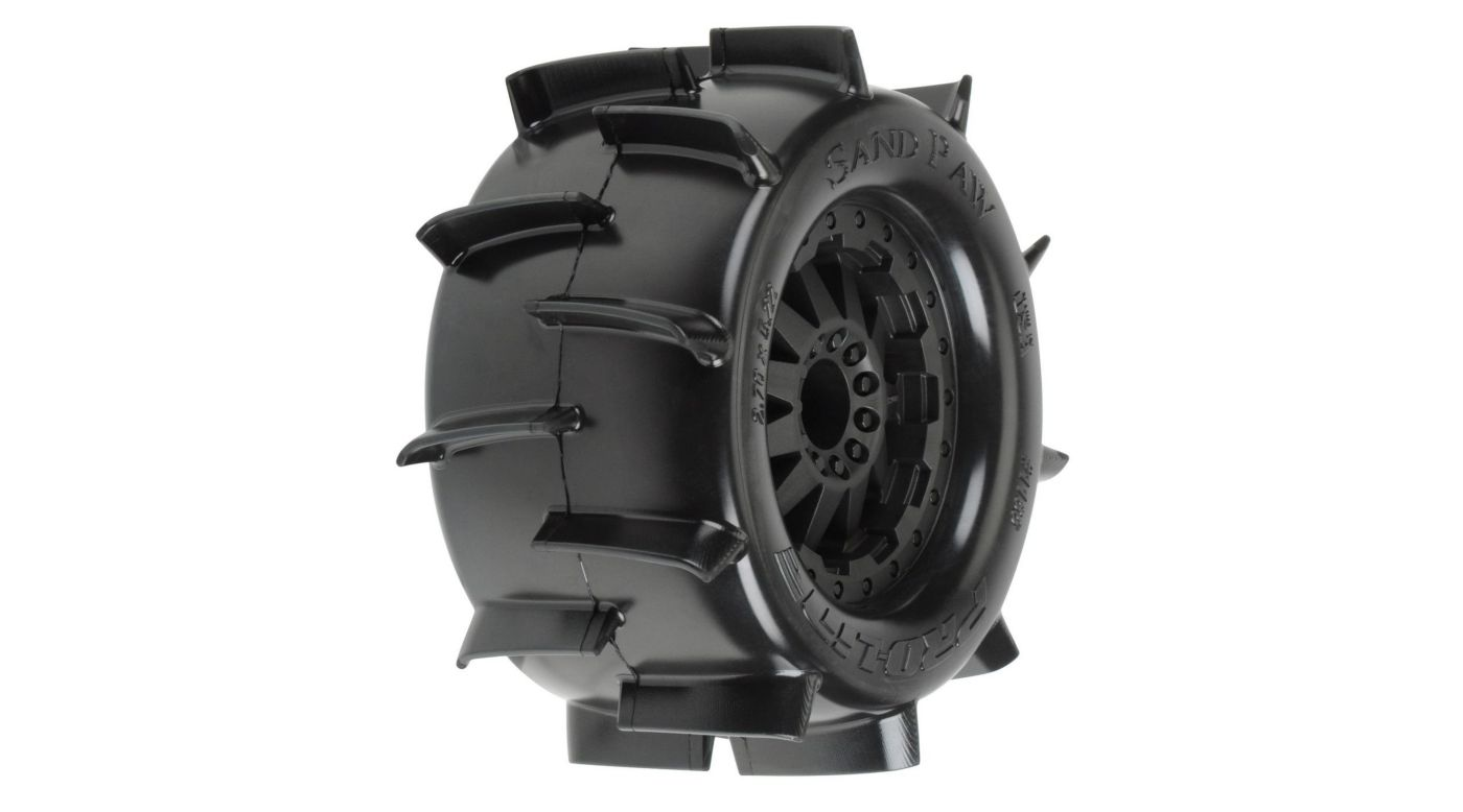 Image for Rear Sand Paw 2.8, TRA Bead,Mnt F11 Blk Whl:EST from HorizonHobby