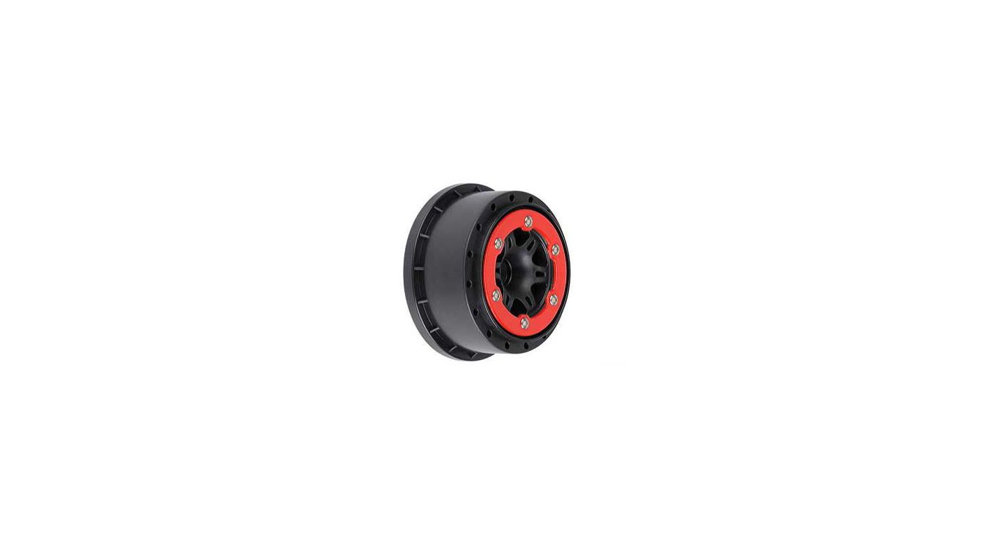 Image for Sixer 2.2/3.0 Red/Black Bead-Loc Fr Wheels(2):SLH from HorizonHobby