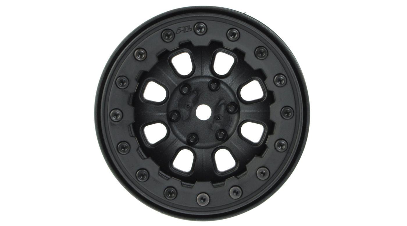 Image for Denali 2.2, Black/Black, Bead-Loc, 8 Spoke, Front/Rear Wheels (2): Crawler from HorizonHobby