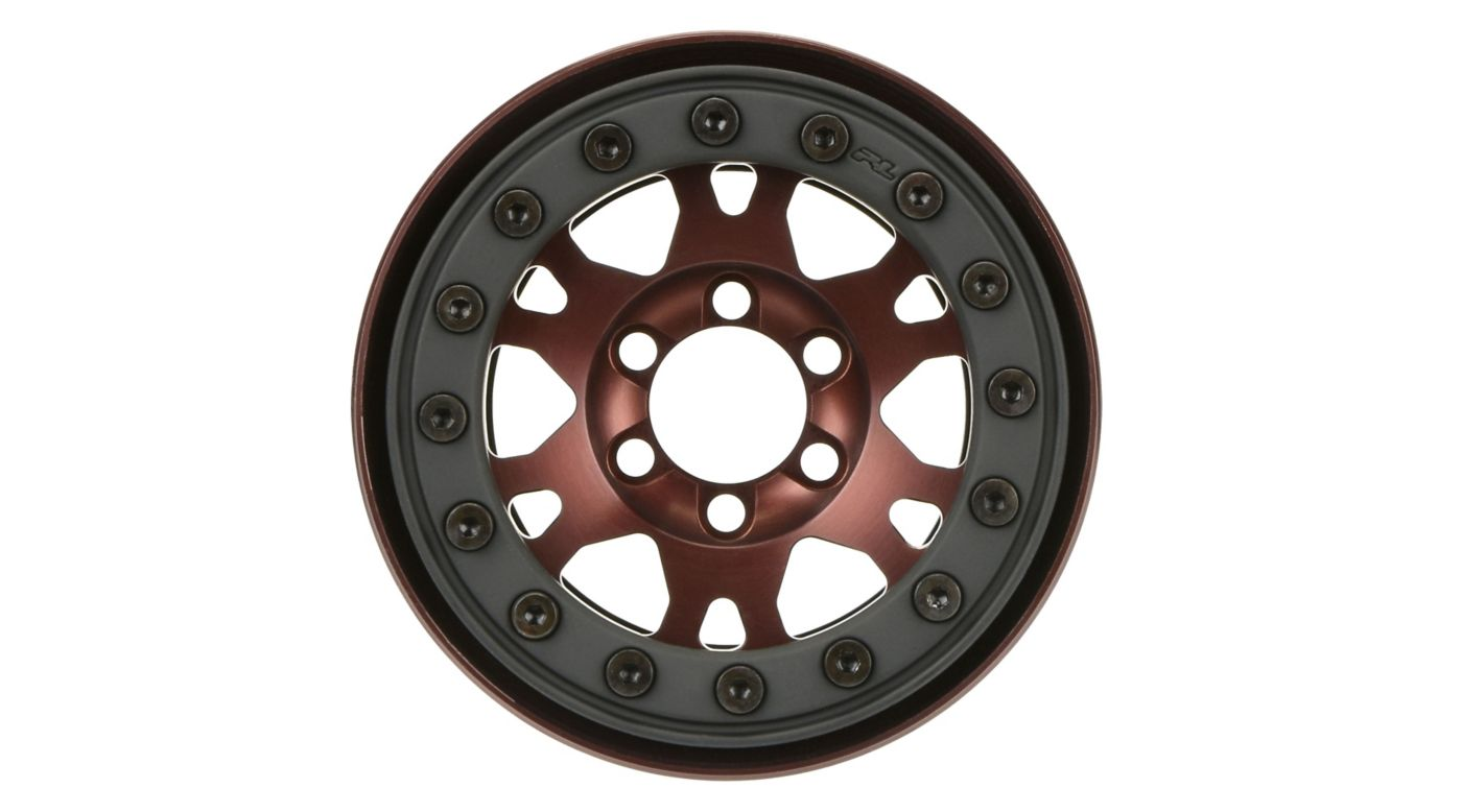 Image for Pro-Forge 1.9, Bronze, Aluminum, Black, Bead-Loc, Front/Rear Wheels (2): Crawler from HorizonHobby