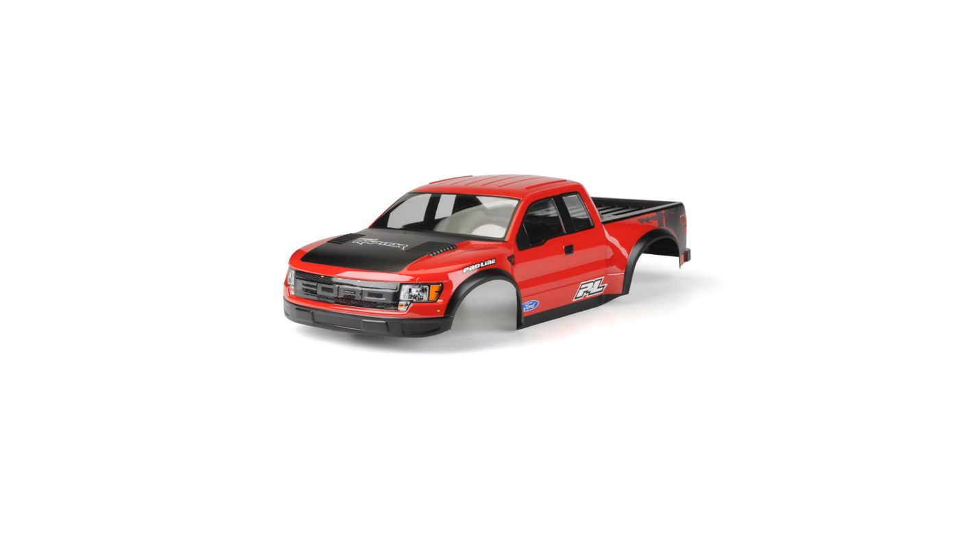 Image for 1/10 Painted & Cut Ford F150 Raptor SVT Body, Red: PRO2 from HorizonHobby