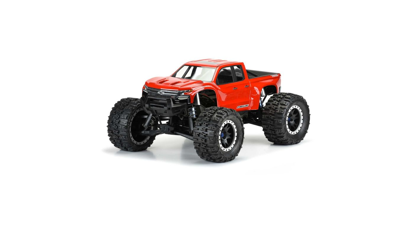Image for Pre-Cut 2019 Chevy Silverado Z71 Body, Clear: X-MAXX from HorizonHobby