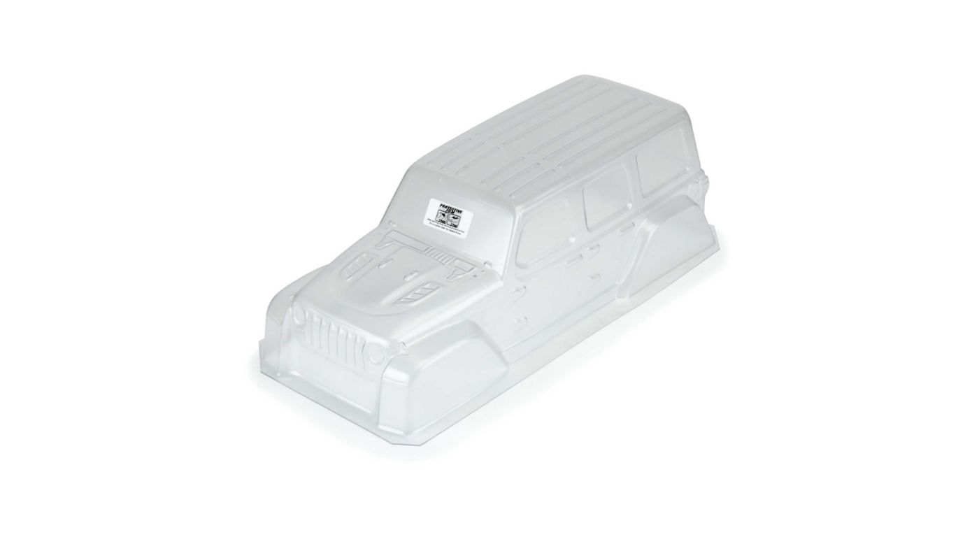 Image for 1/10 Jeep Wrangler JL Unlimited Rubicon Clear Body with 12.3