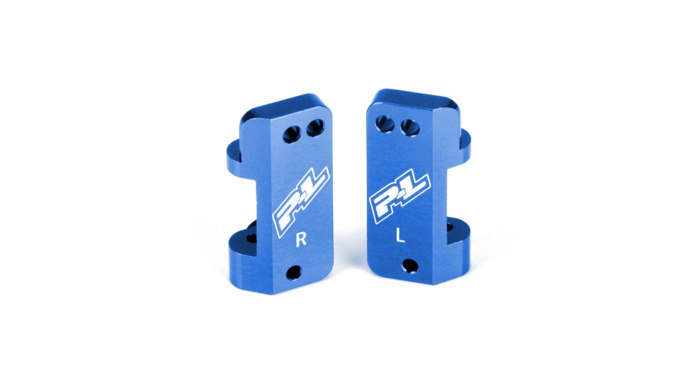 Image for Blue Aluminum Caster Blocks: PRO2, SLH2WD from HorizonHobby