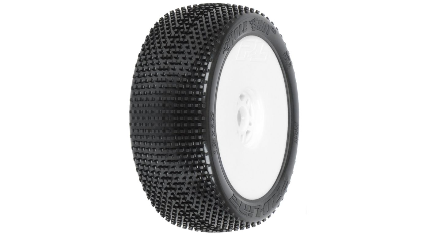 Image for 1/8 Holeshot X2 Mnt LTWT Velocity Wheel, White: BX from HorizonHobby