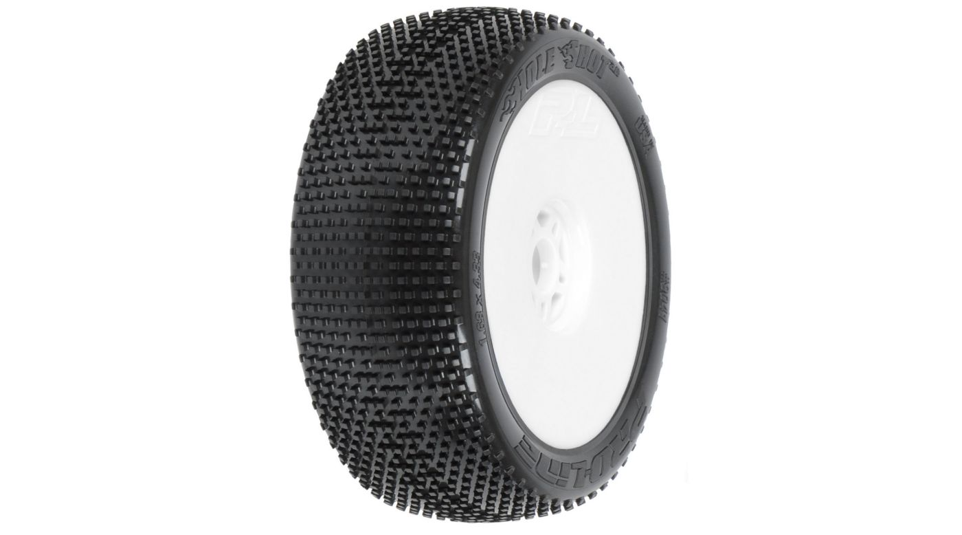 Image for 1/8 Holeshot X3 Mnt LTWT Velocity Wheel, White: BX from HorizonHobby