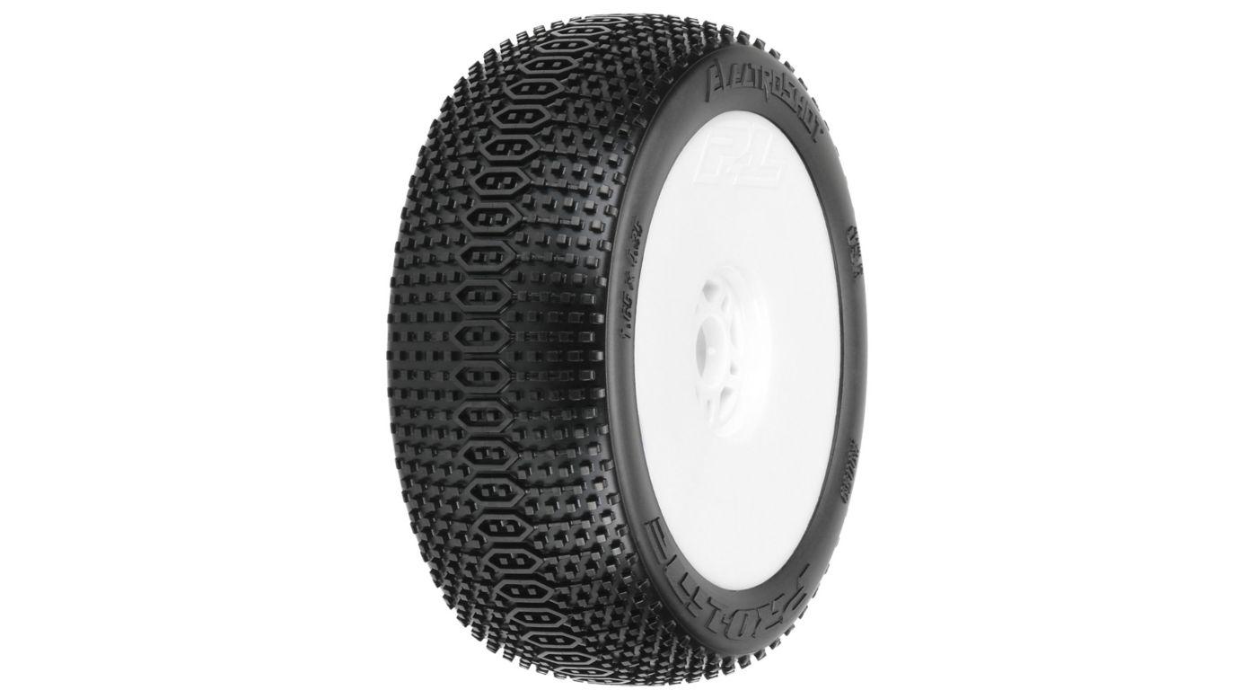 Image for 1/8 ElectroShot X3, Soft Tires, Mounted White Wheel: Buggy (2) from HorizonHobby