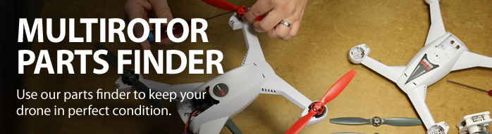 Parts finder for RC Drones, Quadcopters, and Multirotors