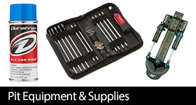Pit Equipment and Supplies for all surface cars and trucks