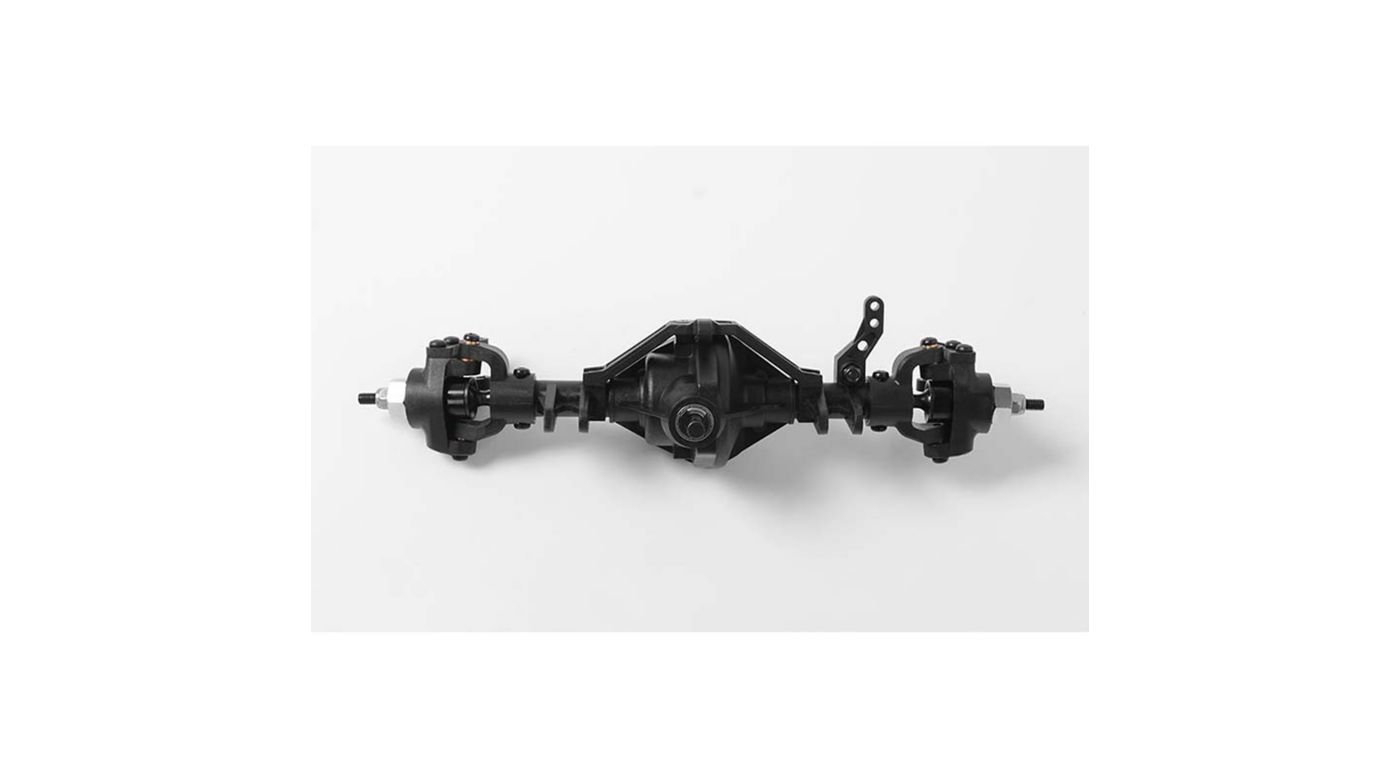 Image for D44 Plastic Complete Front Axle from HorizonHobby