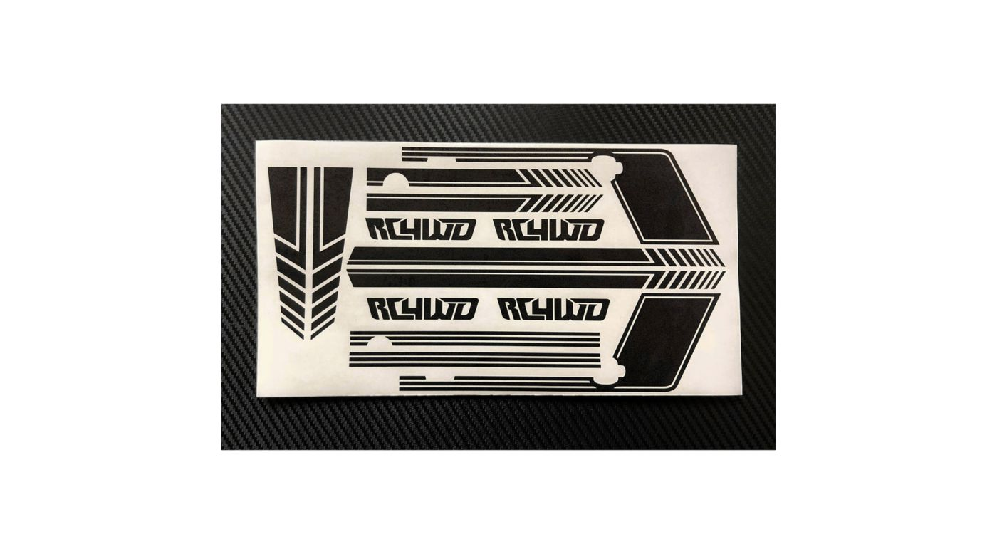 Image for Clean Stripes Decal Sheet, Black: D110 from HorizonHobby