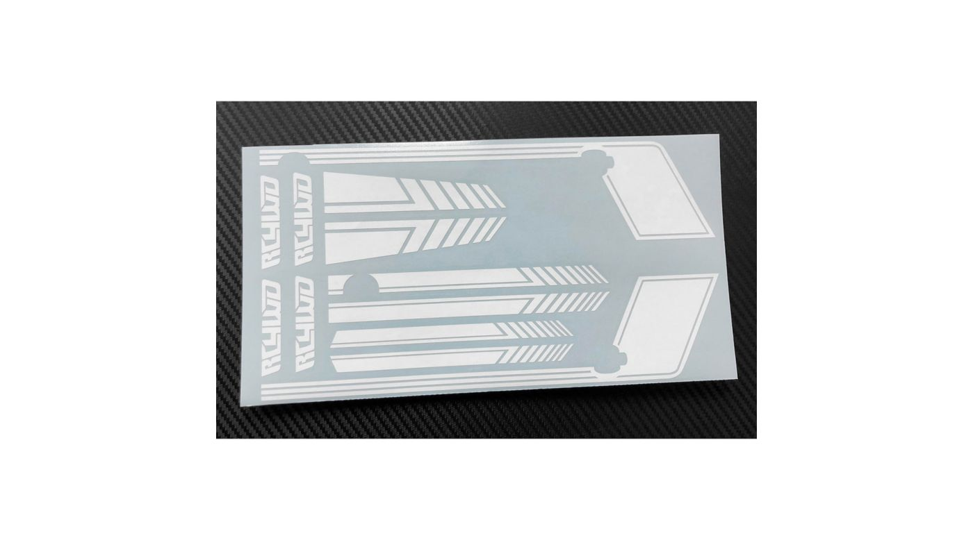 Image for Clean Stripes Decal Sheet, White: D90 from HorizonHobby