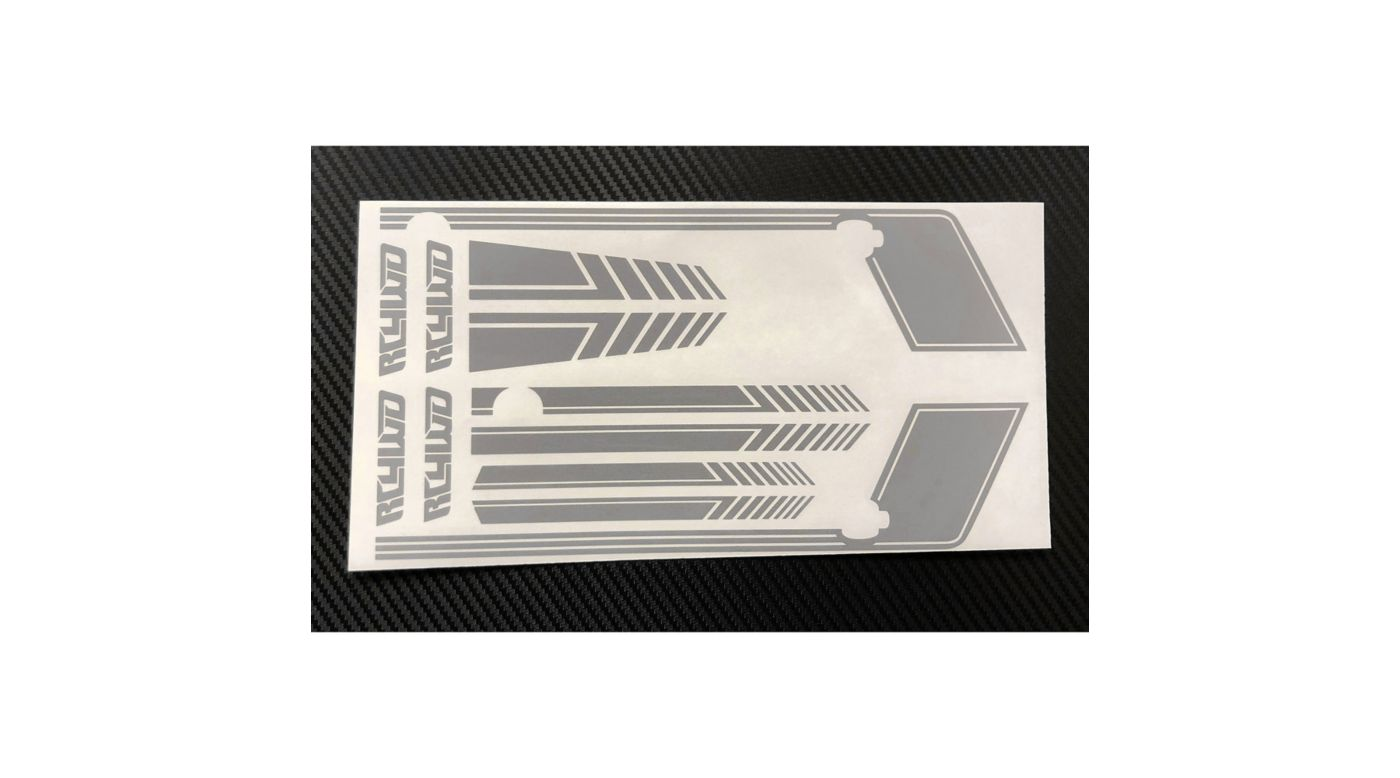 Image for Clean Stripes Decal Sheet, Grey: D90 from HorizonHobby