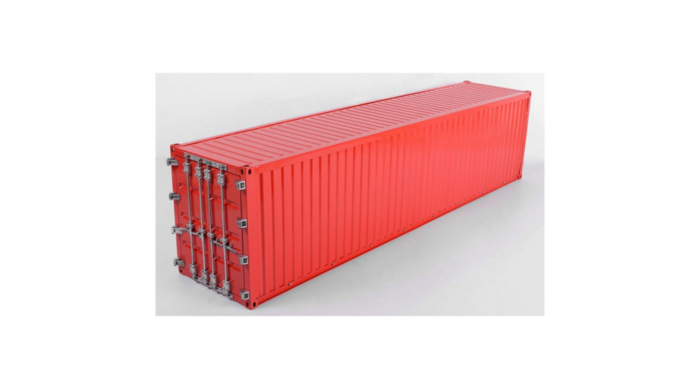 Image for 1/14 Metal 40' Shipping Container, Yellow from HorizonHobby