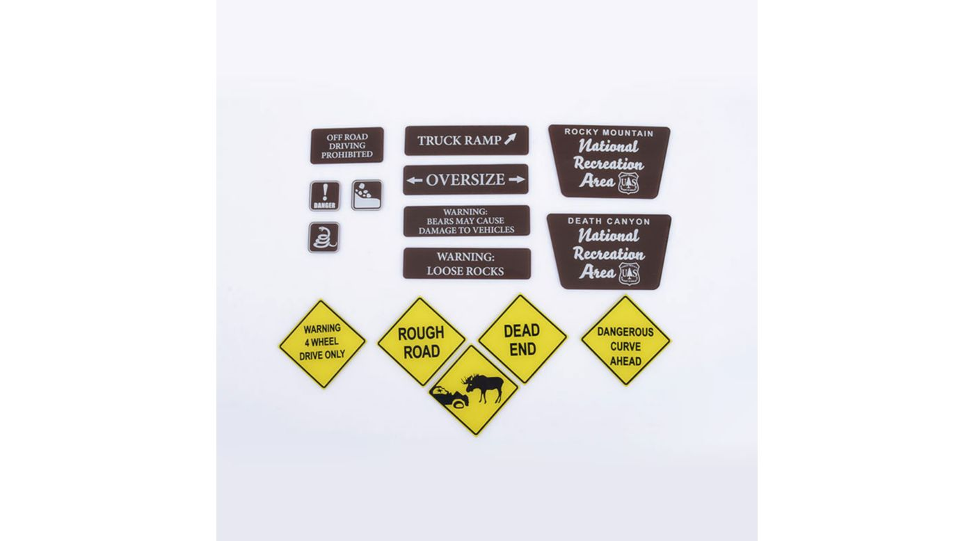 Image for Tough Terrain Scale Signs, Plastic from HorizonHobby