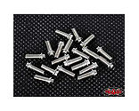 RC4WD - Miniature Scale Hex Bolts, M3x8mm, Silver (20)