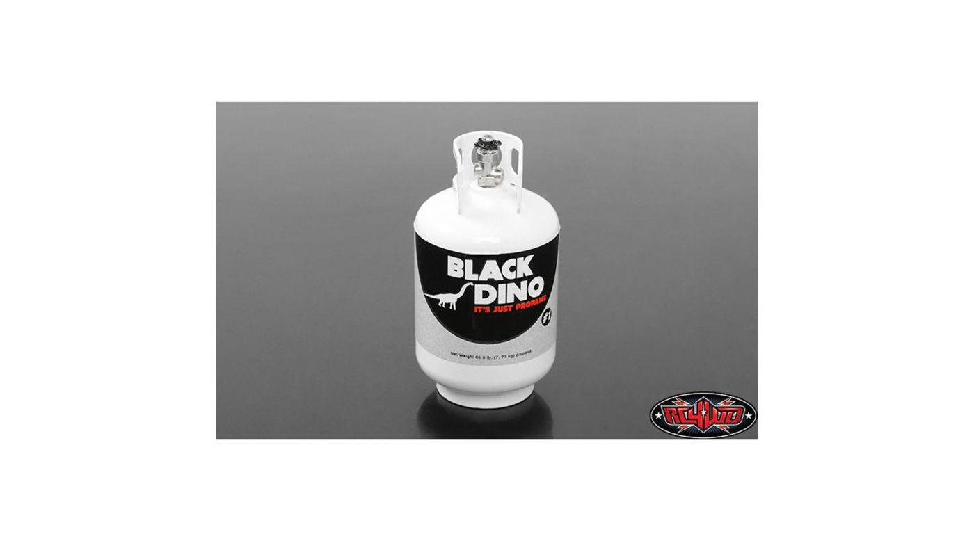 Image for 1/10 Scale RC Black Dino Aluminum Propane Tank from HorizonHobby
