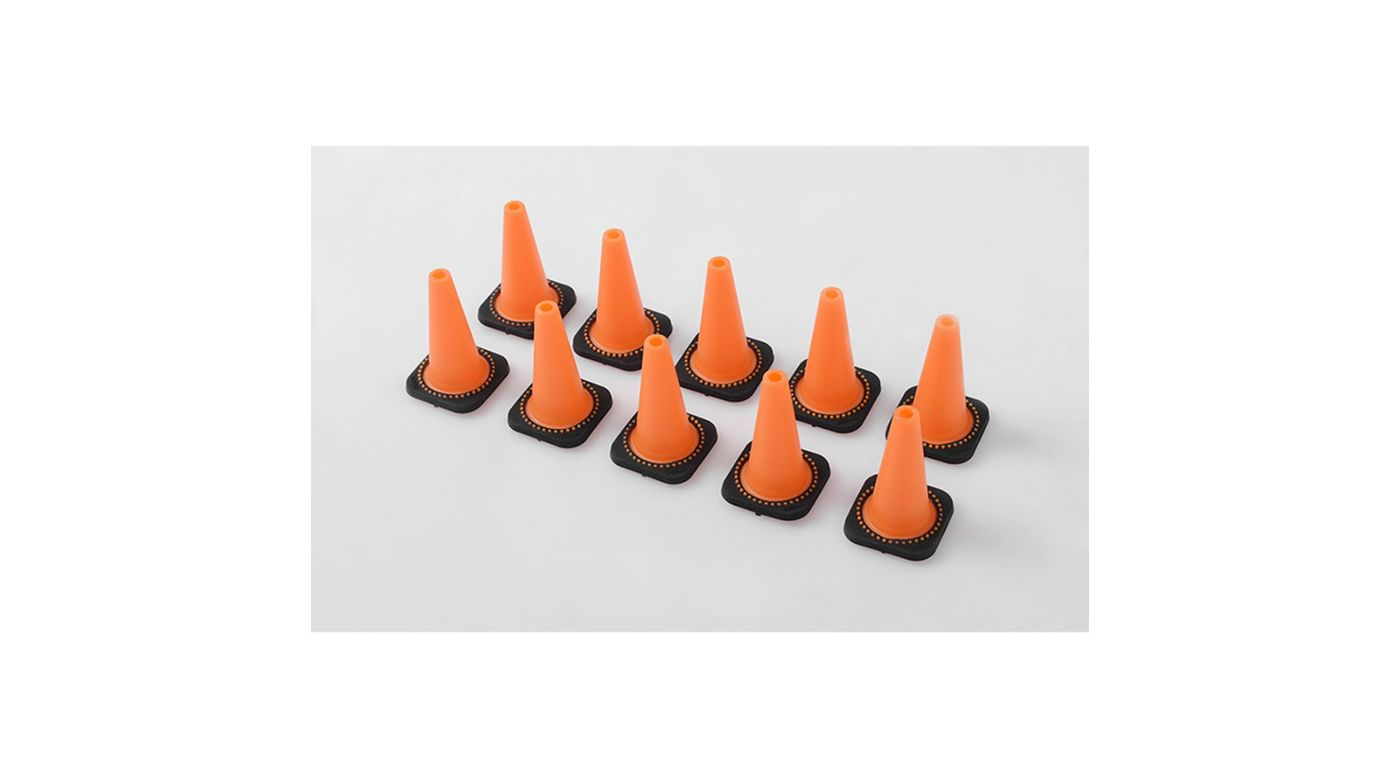 Image for 1/10 Remote Control Hobby Size Traffic Cones (10) from HorizonHobby