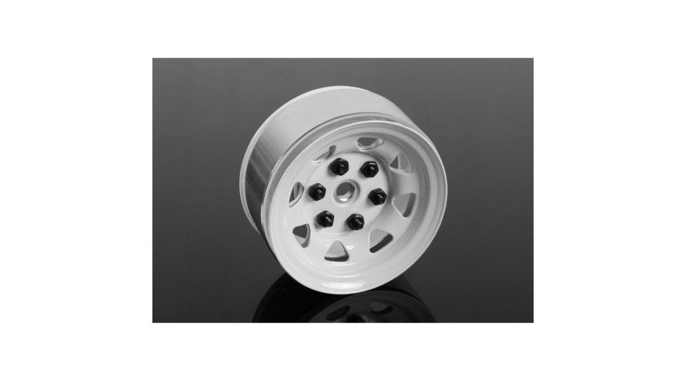 Image for 1.55 Stamped Steel Beadlock Wheel White from HorizonHobby