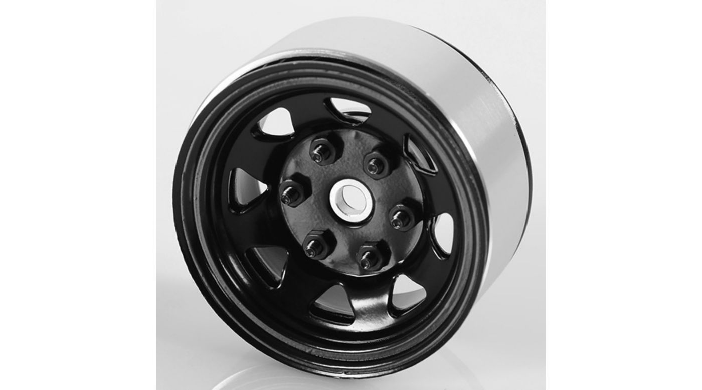 Image for 1.55 Stamped Steel Beadlock Wheel Black from HorizonHobby
