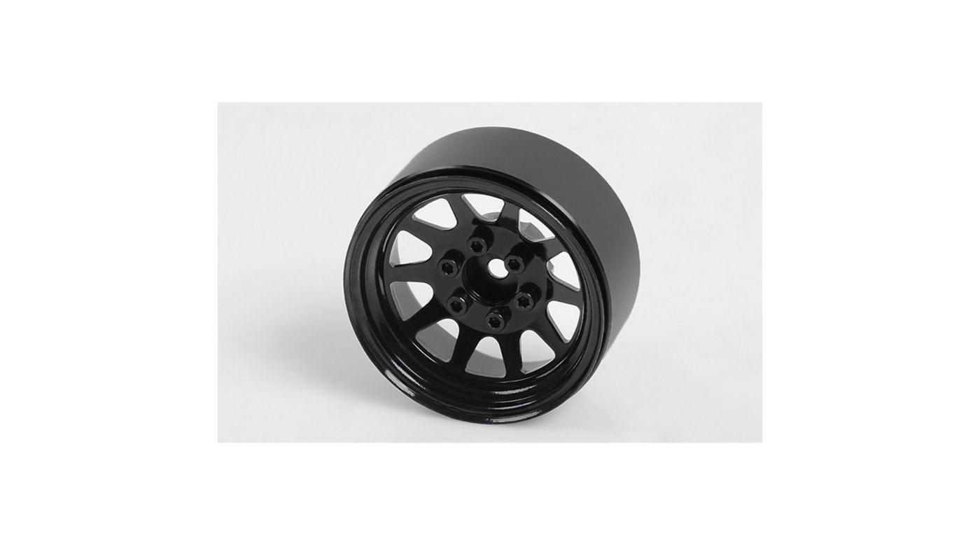Image for OEM Stamped Steel 1.9 Beadlock Wheels, Black (4) from HorizonHobby