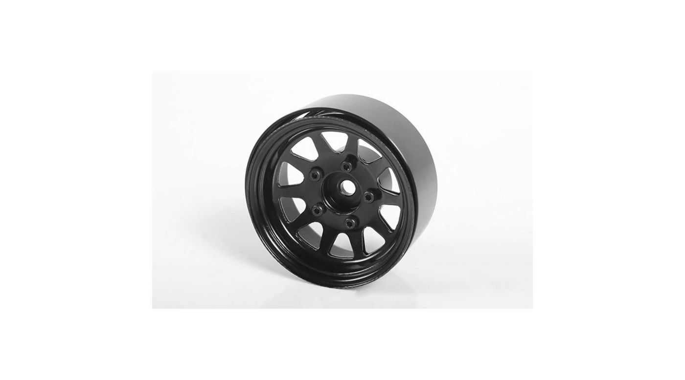 Image for OEM Stamped Steel 1.55 Beadlock Wheels Black (4) from HorizonHobby