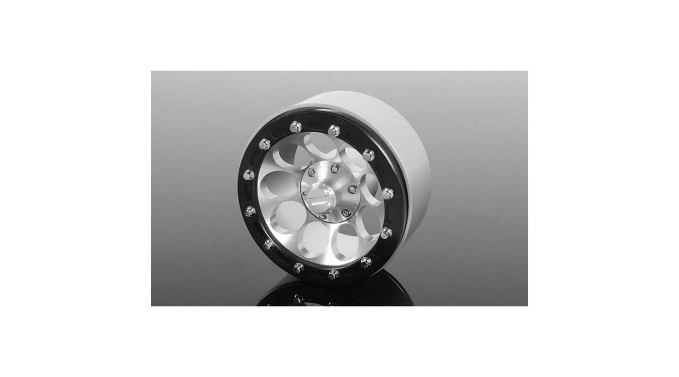 Image for Truescale Series 1.7 Beadlock Wheels Chrome (4) from HorizonHobby