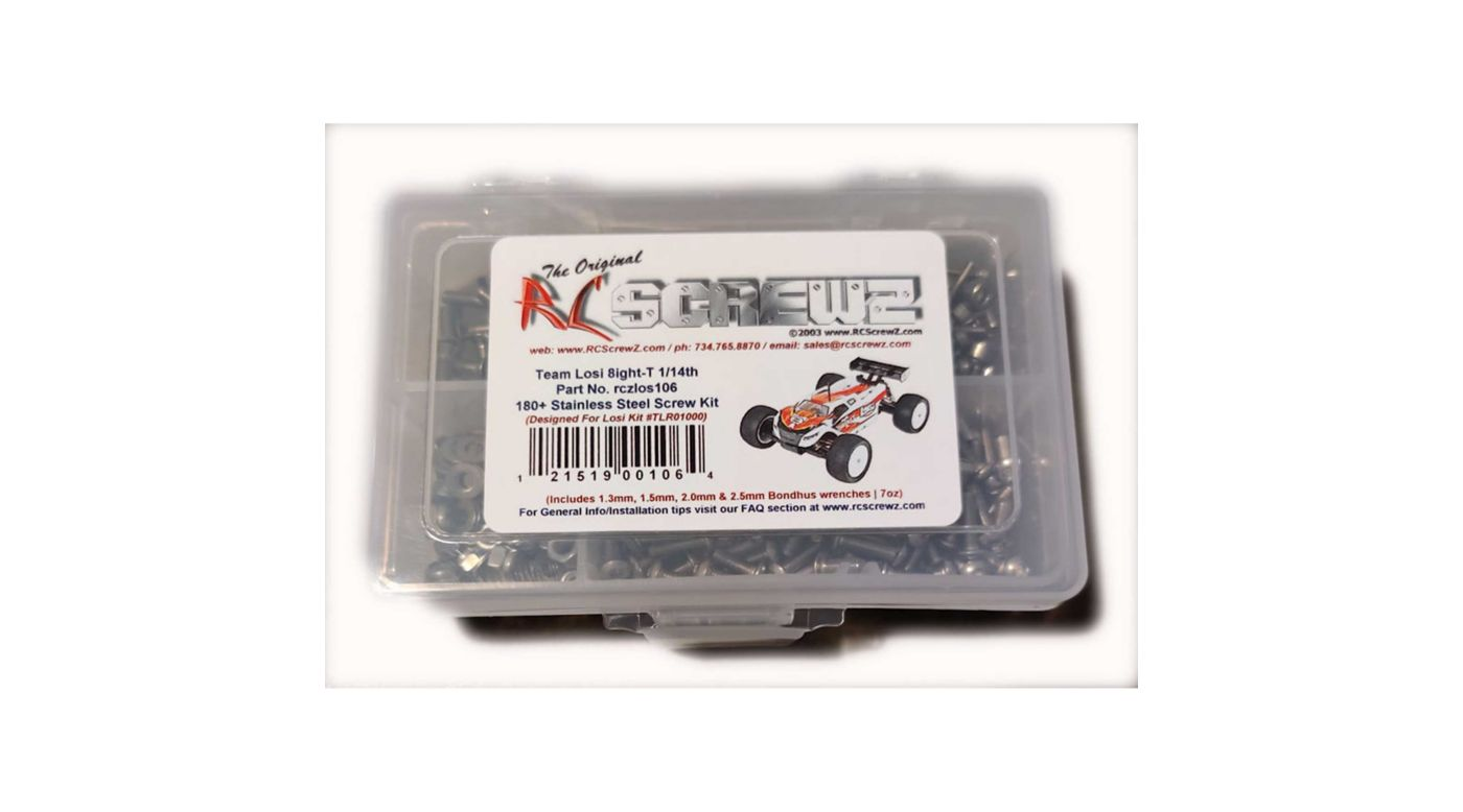 Image for Stainless Screw Kit: Losi Mini 8ight-T 1/14th from HorizonHobby