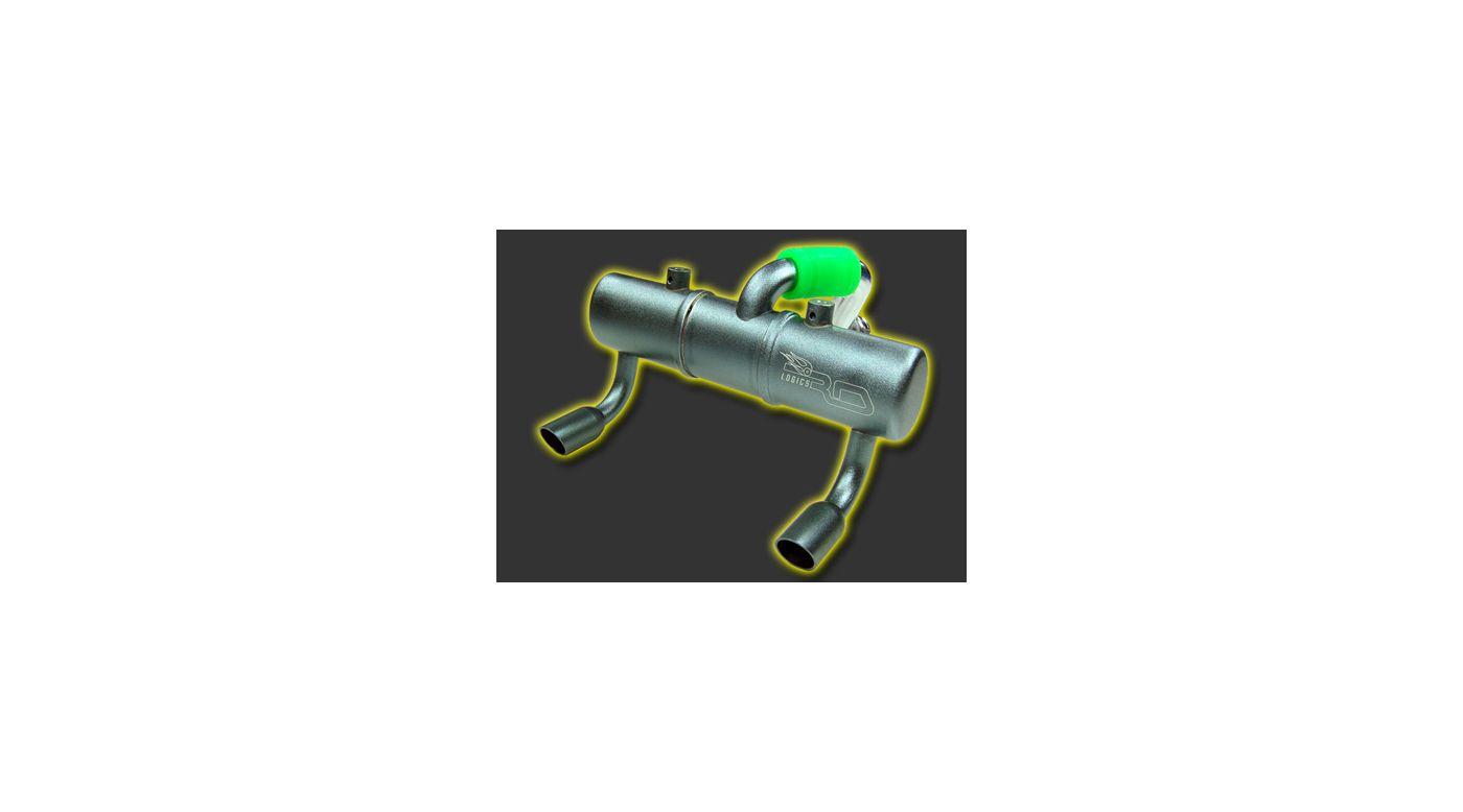 Image for Twin Exhaust Pipe: Tmaxx 2.5/3.3 Titanium from HorizonHobby