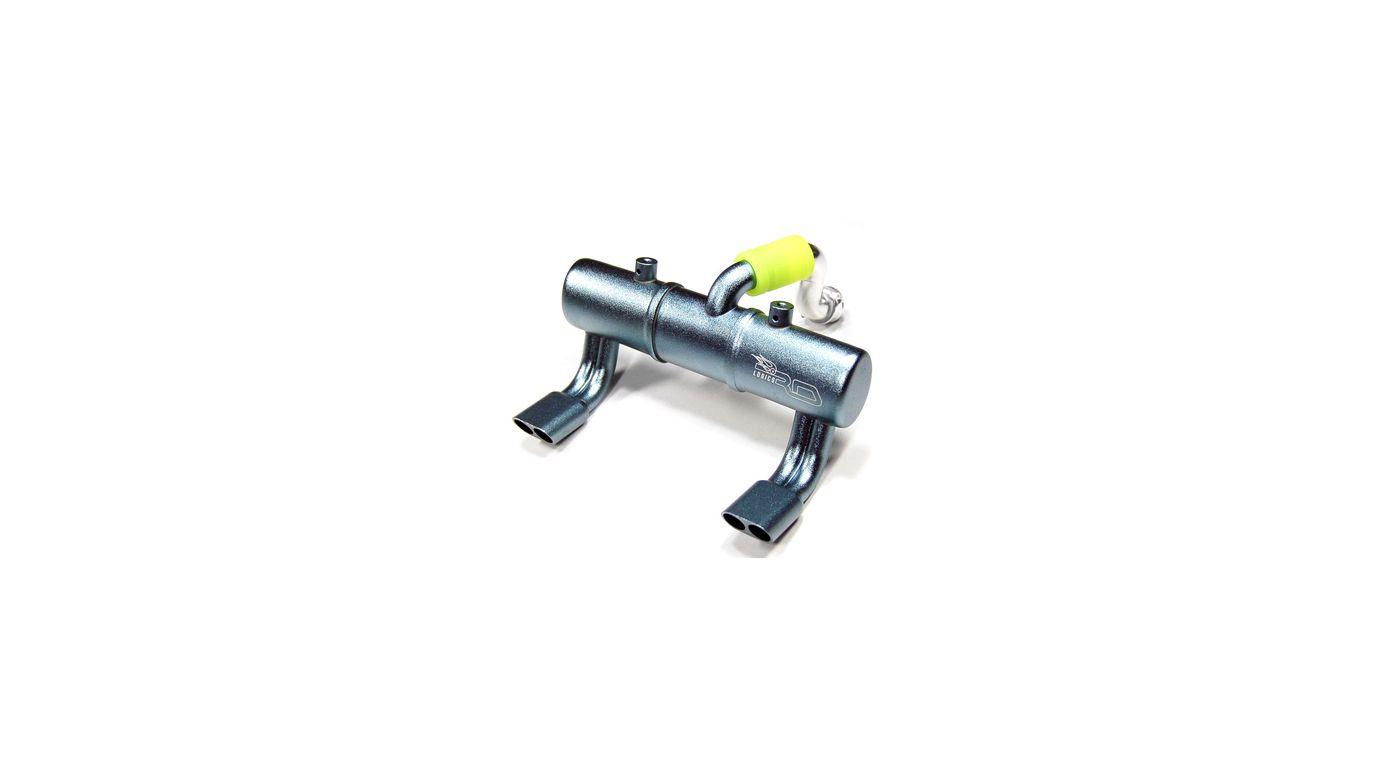 Image for Twin Exhaust Pipe Dual Stinger,Titan:TMaxx 2.5/3.3 from HorizonHobby