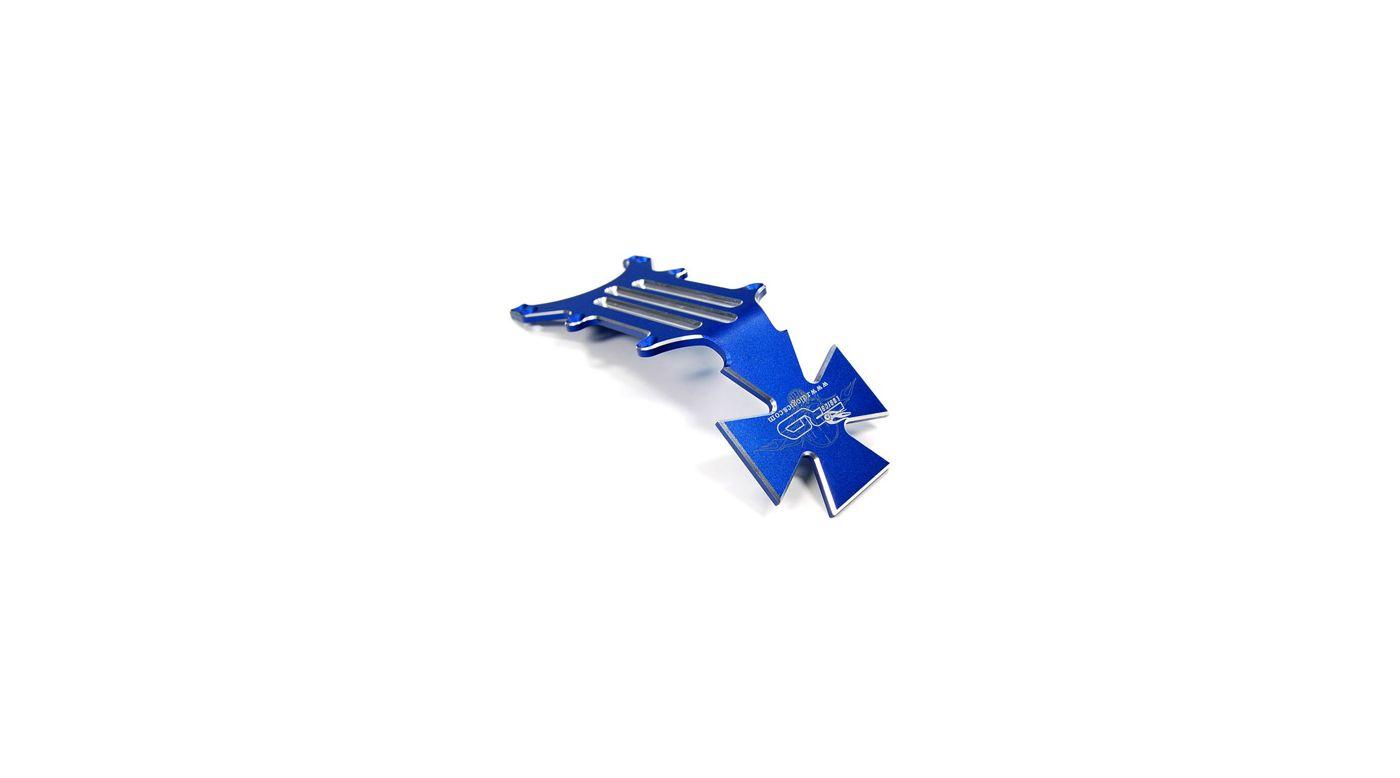 Image for Aluminum Rear Skid Plate, Blue: Tmaxx2/2.5/3.3 from HorizonHobby