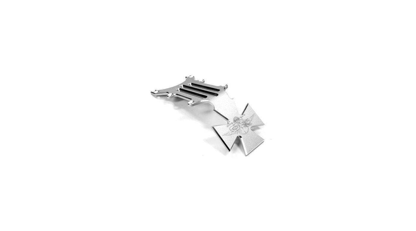 Image for Aluminum Rear Skid Plate, Silver: Tmaxx2/2.5/3.3 from HorizonHobby