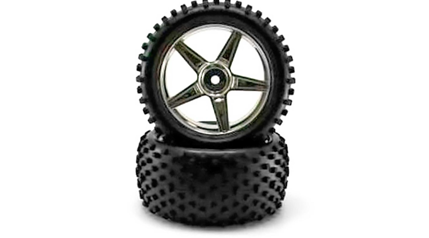 Image for Chrome Rear Wheels and Tires (2): Tornado from HorizonHobby