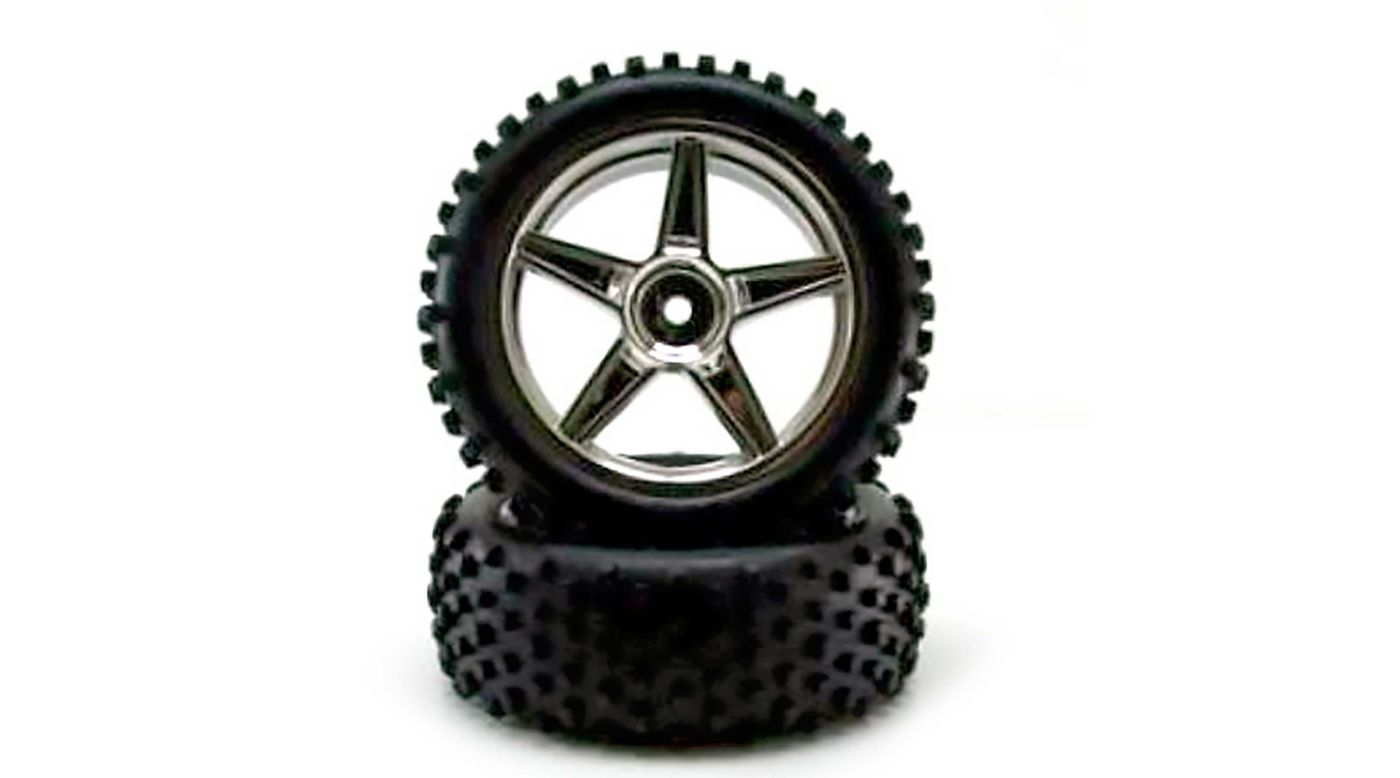 Image for Chrome Front Wheels and Tires (2): Tornado from HorizonHobby