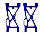Redcat Racing - Aluminum Front Lower Suspension Arm, Blue (2): Rampage MT