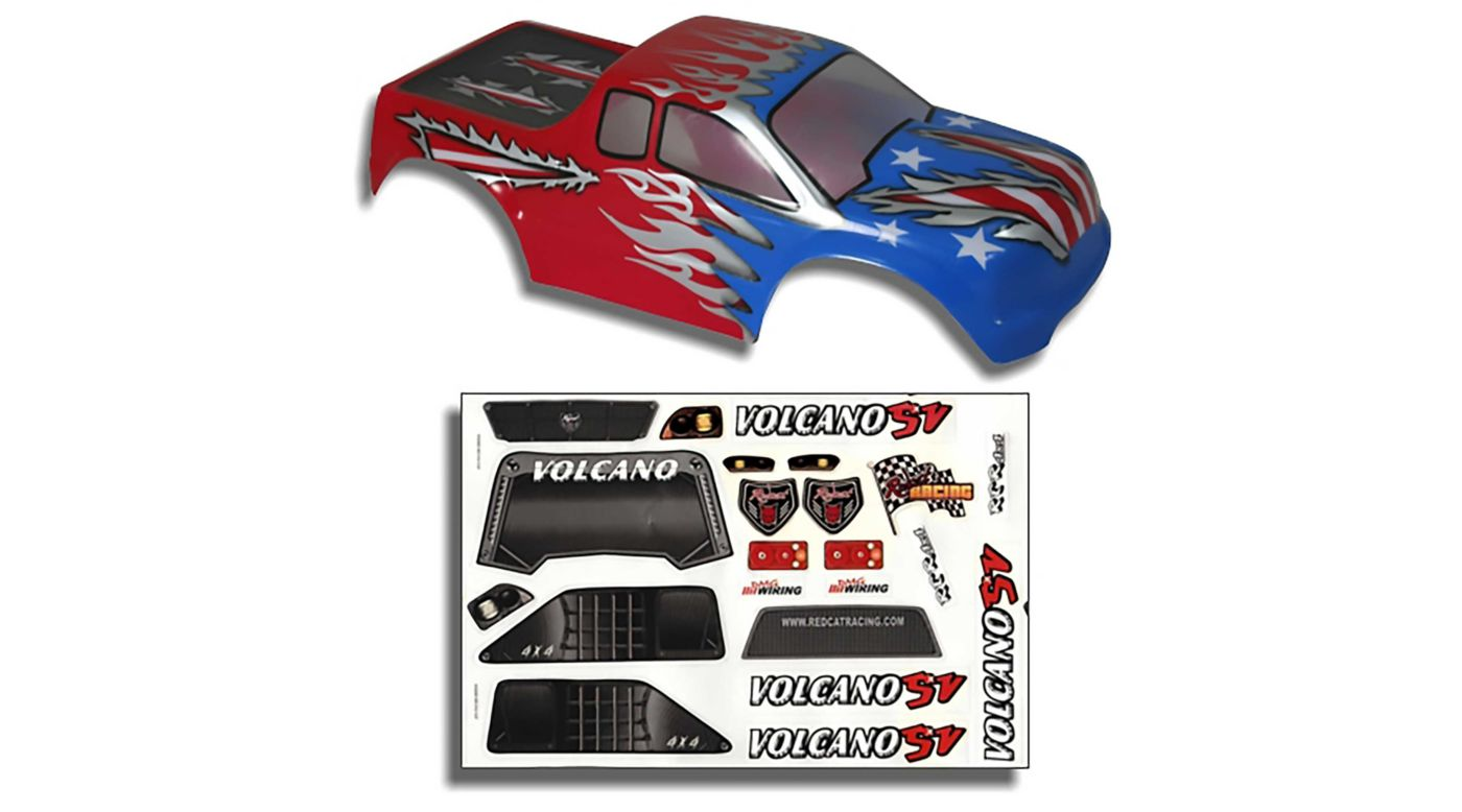 Image for 1/10 Truck Body, Red, White and Blue: Volcano from HorizonHobby