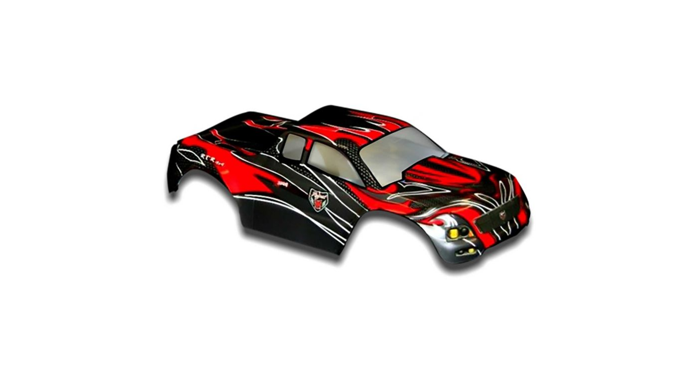 Image for 1/10 Truck Body, Red and Black: Volcano EPX/PRO from HorizonHobby