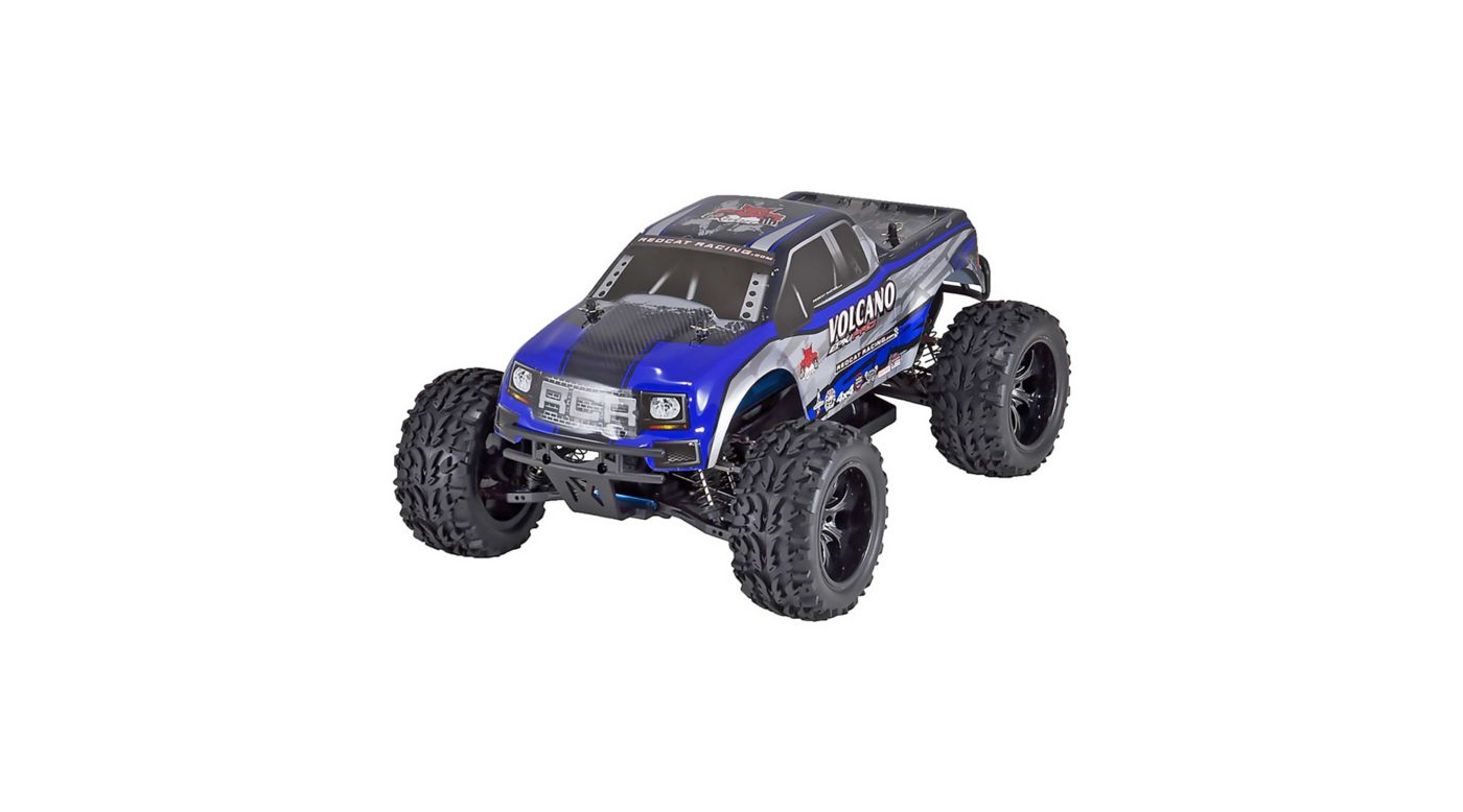 Image for 1/10 Volcano EPX PRO 4WD Monster Truck Brushless RTR, Blue/Silver from HorizonHobby