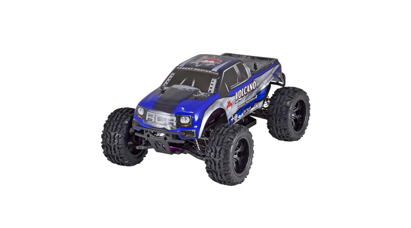 Image for 1/10 Volcano EPX 4WD Monster Truck Brushed RTR, Blue from HorizonHobby