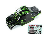 Redcat Racing - 1/10 Semi Truck Body, Grey/Green: Tornado EPX/PRO