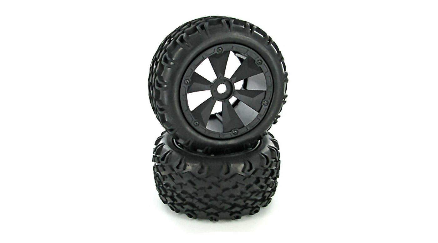 Image for Tires and Wheels Mounted (2): Shredder, Terremoto V2 from HorizonHobby