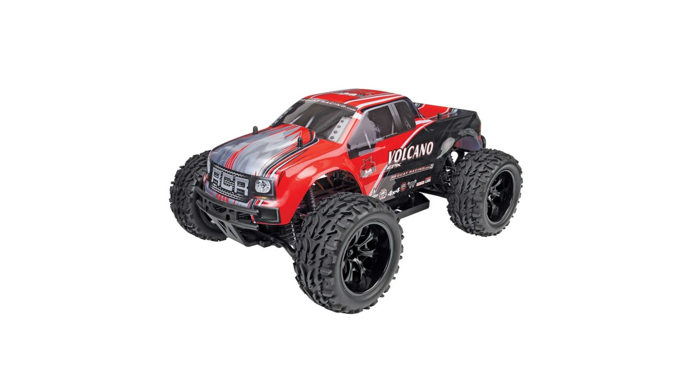 Image for 1/10 Volcano EPX 4WD Monster Truck Brushed RTR, Red from HorizonHobby