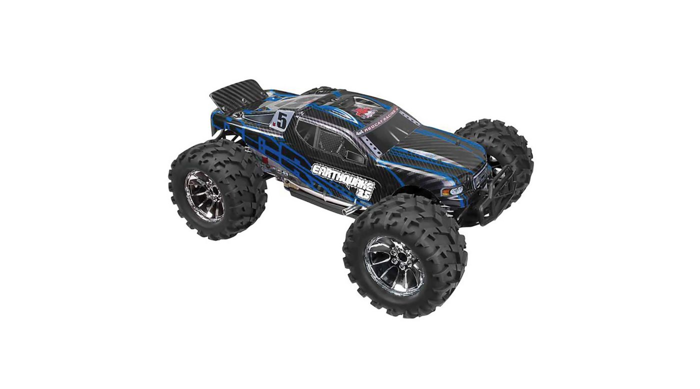 Image for 1/8 Earthquake 3.5 4WD Nitro Monster Truck RTR, Blue from HorizonHobby