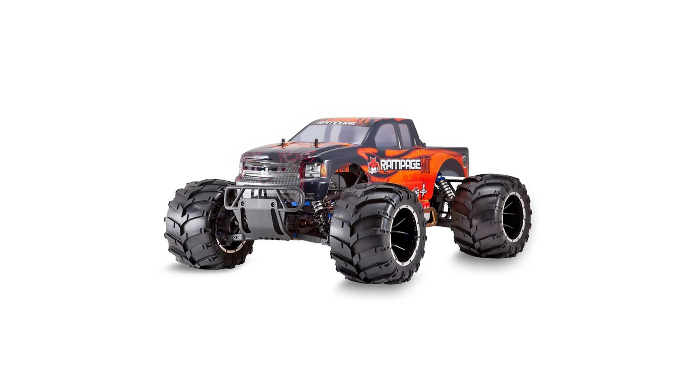 Image for 1/5 Rampage MT V3 4WD Gas Monster Truck RTR, Orange Flame from Horizon Hobby