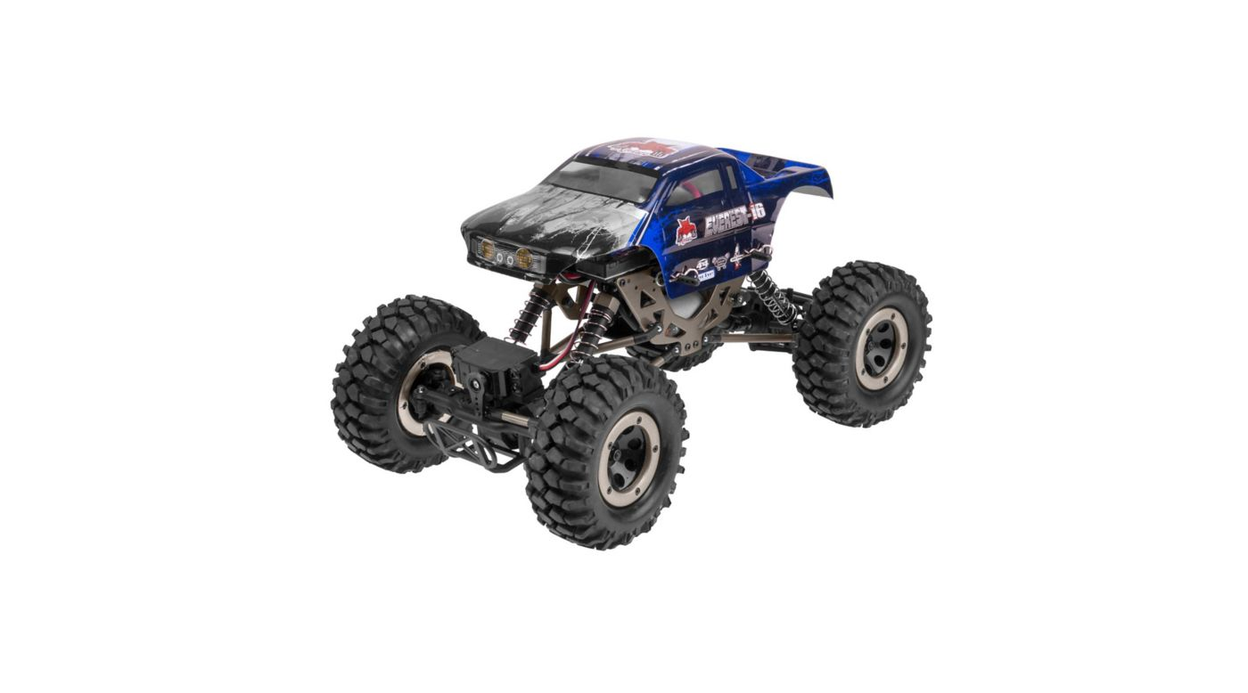 Image for 1/16 Everest-16 4WD Rock Crawler Brushed RTR, Blue from HorizonHobby