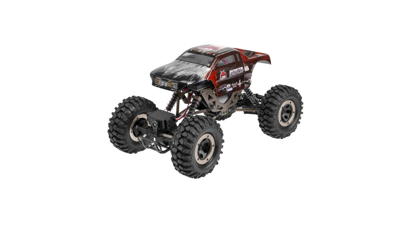 Image for 1/16 Everest-16 4WD Rock Crawler Brushed RTR, Red from HorizonHobby